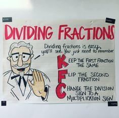 dividing fraction anchor chart classroom math, anchor charts is part of Homeschool math - Math For Kids, Fun Math, Math Math, Math Anchor Charts, Division Anchor Chart, Math Fractions, Dividing Fractions, Box Method Multiplication, Multiplying Decimals