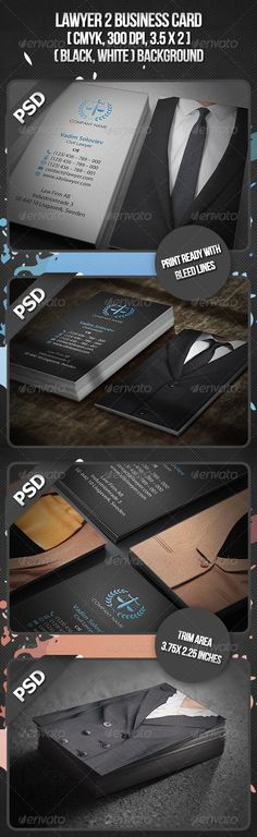 Lawyer 2 Business Card Design template - Business Cards Print Template PSD. Download here: https://graphicriver.net/item/lawyer-2-business-card/3095375?s_rank=220&ref=yinkira