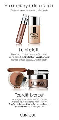Trendy Makeup Tutorial Foundation Bronzer Ideen - Benutzer Definier Make-up Make Up Tutorials, Best Makeup Tutorials, Best Makeup Products, Beauty Products, Clinique Cosmetics, Clinique Makeup, Beauty Makeup, Eye Makeup, Beauty Tips