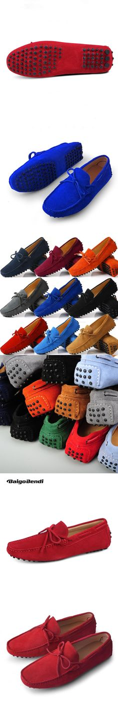 US6-12 Suede Leather Mens SLIP 0N loafers  casual CAR Shoes Moccasin men boat shoe tassel Loafer