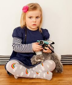 Slugs & Snails Tights - Cloud & Rainbow Retro Baby Clothes - Baby Boy clothes - Danish Baby Clothes - Smafolk - Toddler clothing - Baby Clothing - Baby clothes Online