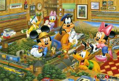 Mickey & Friends and the railway models Walt Disney, Disney Mouse, Disney Films, Disney Fun, Disney Magic, Disney Mickey, Disney Characters, Mickey And Minnie Love, Minnie Mouse Christmas