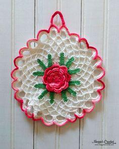 Collecting Vintage Crochet Potholders :