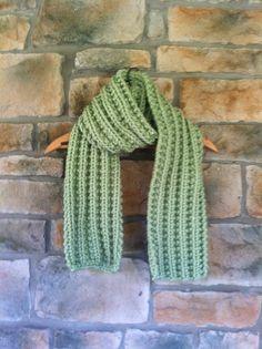 Handknit Winter Chunky Scarf Light Green by Amazingknits on Etsy, $30.00