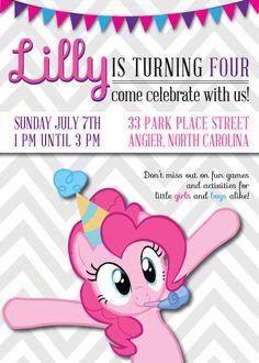 My Little Pony Invitation My Little Pony by BOLODEWEPIXELS on Etsy