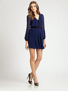 ABS Pleated Dress from Saks  $270.00