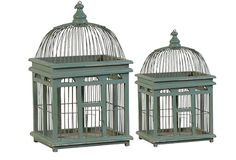 Cute bird cages- Antique Farmhouse is a great cheap, shabby chic decor website