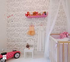 Białe tło w pokoju malucha - zdjęcie od KiddyFave.com