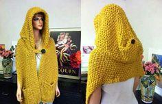 Bufanda con capucha muy abrigadora