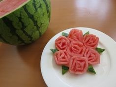 How to make Watermelon Roses