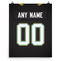 Jacksonville Jaguars Jersey Poster - Print Personalized Select ANY Name & ANY Number