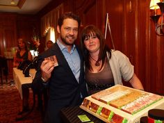 Stacey with Jason Priestly...pretty exciting day!