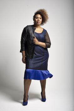 Offrez-vous un must de la collection #BigBeauty pour Taillissime, dispo en tailles 42 à 58 : Une robe féminine à souhait, à porter avec une veste plus rock : http://www.ma-grande-taille.com/taillissime-fr
