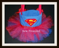 Super Girl Super Hero Tutu Tote Bag by SewPizazzed on Etsy