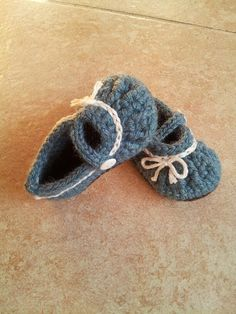 Blue baby girl shoes  mary jane booties  baby by DOVIESlovingKNITS, $23.00