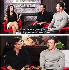 And when Chris Evans answered this question, normally aimed at women, with brutal honesty.