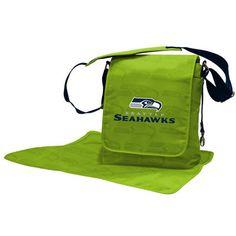 Seattle Seahawks Lil Fan Messenger Diaper Bag