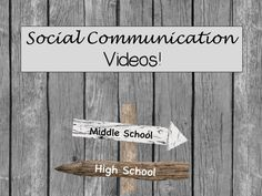 Videos to use to teach social communication skills to middle and high school students.