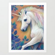 Unicorn Art Print by ShannonPosedenti - $18.00