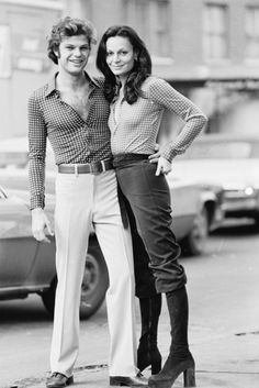Diane von Furstenberg & her husband Barry Diller in the 70s