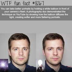 How to take better portraits - WTF fun facts