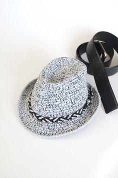 Tweed gris bebé Fedora sombrero niño Fedora sombrero por milazshop