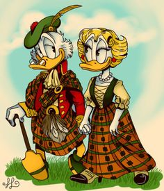 Scrooge and Goldie O'Gilt, by Victoria. Walt Disney Characters, Walt Disney Co, Disney Duck, Disney Mickey, Disney Art, Cartoon Characters, Cartoon Gifs, Cartoon Shows, Don Rosa