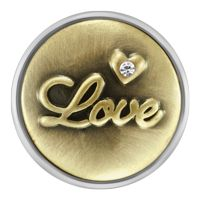Antique Brass Love Snap