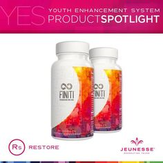 FINITI™ contains the only proprietary blend of natural ingredients known to safely lengthen short telomeres and maintain healthy stem cells. It also protects your DNA, telomeres, and cells from oxidative stress. FINITI™ is Jeunesse's most advanced anti-aging supplement to date. BENEFITS - Contains the only known patented nutrient shown to lengthen short telomeres in humans* www.fredtrevi.jeunesseglobal.com
