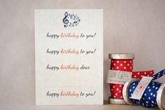 D.I.Y. birthday card, £2.00
