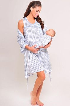 58a7e7f55a089 Olian Maternity 3 PC Diamond Nursing Nightie Set. Get OFF sale when you  shop for Olian maternity dresses