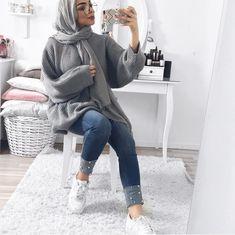 mariammofid Modern Hijab Fashion, Street Hijab Fashion, Hijab Fashion Inspiration, Muslim Fashion, Fashion Outfits, Fashion Edgy, Fashion Trends, Casual Hijab Outfit, Hijab Chic