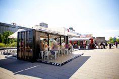 Porchetta Shipping Container Kiosk by Noiseux & Sasseville - http://dailym.net/2013/11/porchetta-shipping-container-kiosk/