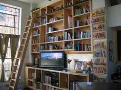 This is a dream bookcase for an ebay office. If you don't already have one, do you believe you could build one?