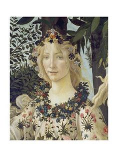 """Detail from the Painting """"Primavera"""": Head of Flora"""
