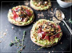 Tortilla mit Avocado und Bündnerfleisch