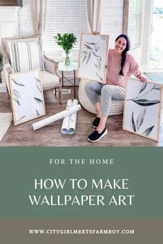 This is a great way to use up the extra wallpaper you have in the home! Pin it now so you can use this tutorial when you need it! Living Furniture, Diy Furniture, Painted Furniture, Decor Crafts, Diy Home Decor, Diy Crafts, How To Make Wallpaper, Diy Ottoman, Ottoman Bench