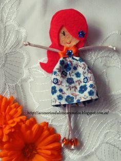 Quecas de Fieltro / Dolls felt  mod11 http://accesoriosdulcescaramelos.blogspot.com.es/search/label/Mu%C3%B1ecas%20%28Quecas%20de%20Fieltro%29