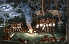 [Corroboree around a camp fire] [picture] - Part of Lycett, Joseph, approximately Drawings of Aborigines and scenery, New South Wales, ca. Australian Painting, Australian Artists, Aboriginal Culture, Aboriginal Art, Australian Aboriginals, Jungle Boogie, Indigenous Art, Indigenous Education, Prison Art