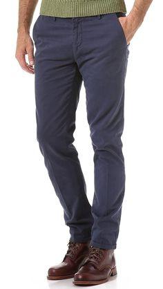 Gant Rugger Mens Harbour Navy Blue Slim fit Chinos Pants Trousers 32/34 NWT $165 #GantRugger #KhakisChinos