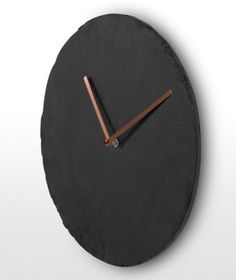 The Miner wall clock in Slate and Copper. | MADE.COM