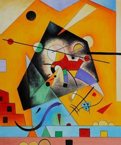 """ Quiet Harmony "" 1924 By Wassily Kandinsky Oil on Cardboard Wassily Kandinsky, Abstract Words, Abstract Art, Cross Stitch Supplies, Art Abstrait, Paintings I Love, Art For Art Sake, Art Plastique, Famous Artists"
