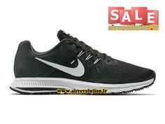 NIKE ZOOM WINFLO 2 - CHAUSSURE DE RUNNING NIKE PAS CHER POUR HOMME Noir/Anthracite/Blanc 807276-001