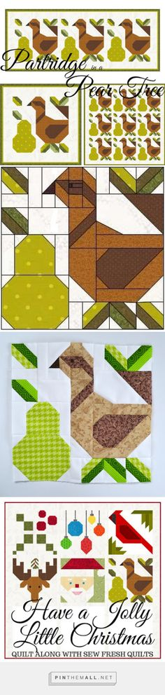 Sew Fresh Quilts: Block 06 Partridge in a Pear Tree, March 2017