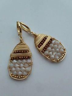 Itzel Wire Wrapped Earrings, Wire Earrings, Unique Earrings, Earrings Handmade, Handmade Jewelry, Jewelry Crafts, Jewelry Art, Jewelry Accessories, Jewelry Design