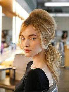 Hairspiration: Stay chic in the heat with this 60's inspired ponytail, that sits high on the crown. #Beauty #Hair #ThePowderpuffGirls