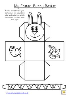 Easter eggstravaganza easter baskets baskets and templates early play templates want to make a simple easter basket pronofoot35fo Images
