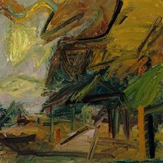 Frank Auerbach (British, born Germany 1931), Primrose Hill, Autumn, 1984. Oil on canvas, 121.9 x 121.9 cm.