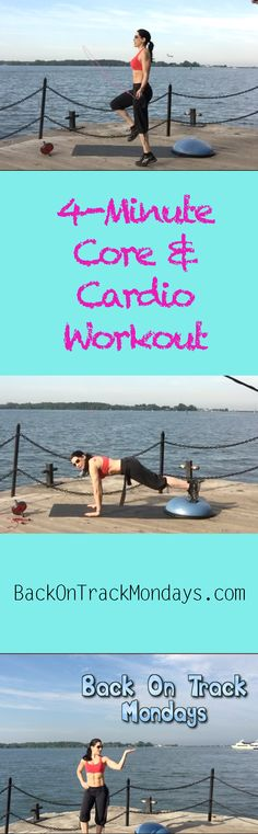Are you ready to Get Back On Track with me every Monday? Click the poster to access this Monday's core & cardio Workout Video!