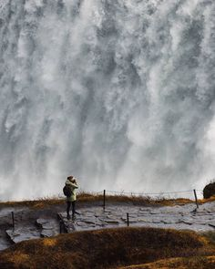 Dettifoss Waterfall is located in Vatnajökull National Park. Here you can enjoy the most powerful waterfall in Iceland flowing from the mighty Vatnajökull Glacier, the country's largest ice cap! Iceland Waterfalls, Fire And Ice, National Parks, Tours, Country, Cap, Waterfall, Baseball Hat, Rural Area
